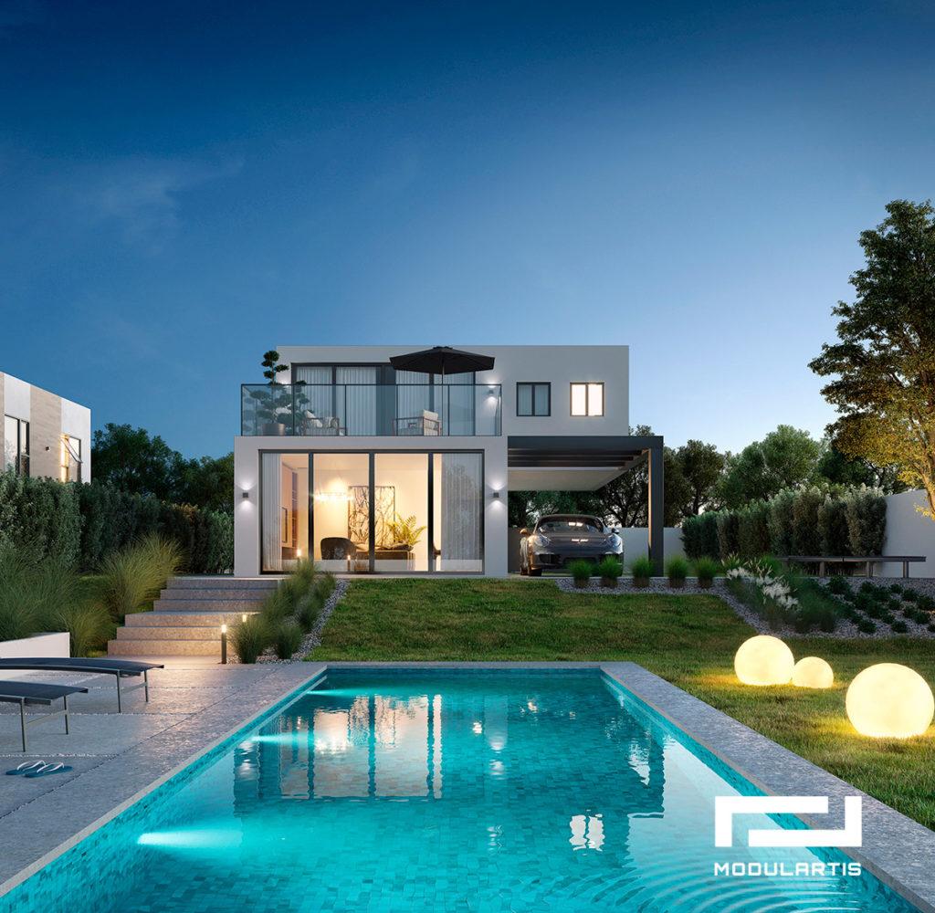 diseños de casas modulares de Modulartis - Casa modular en Galicia