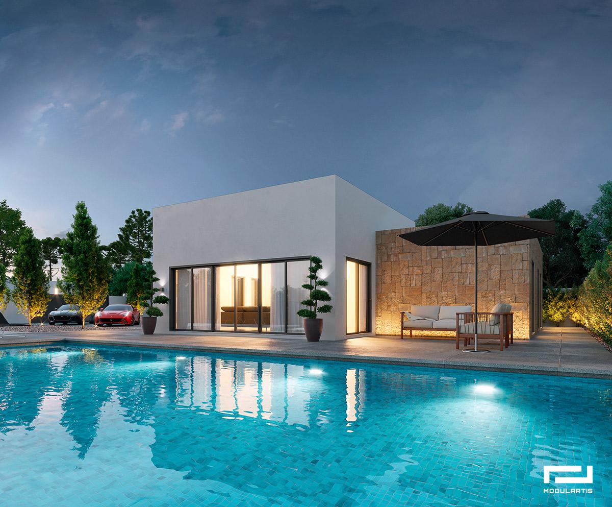 Los chalets prefabricados: Diseños de casas modulares de Modulartis